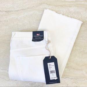 Vineyard Vines High Rise Kick Flare Jeans White